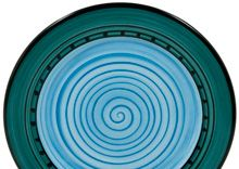 Carousel Blue Dinnerware By Hf Coors American Made Restaurant Quality Durability Is Microwave Safe Oven