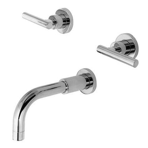 newport brass 3 995l east linear double handle tub faucet trim with rh pinterest com au