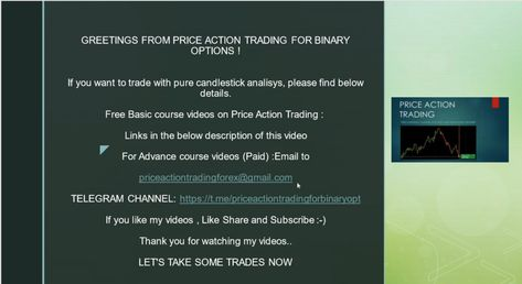 prce acton trading system in binary options