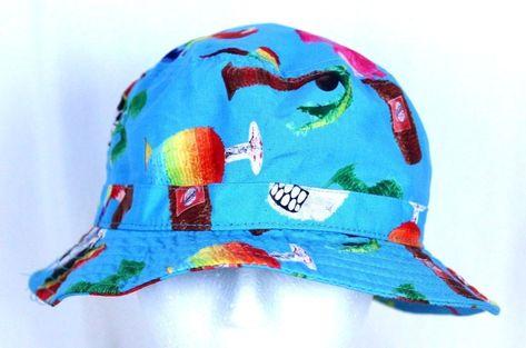 be496682e0a Vans Tropical Parrot Tiki Skull Undertone Cotton Blend Sun Bucket Hat Cap  S M  Vans  BucketHat