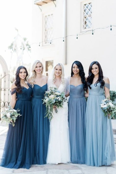 2020 Bridesmaid Dresses Ever Pretty Elegant Bridesmaid Gown Best Maid Of Honor Dresses Wedding Dresses For Mature Brides Bridesmaid Separates, Dusty Blue Bridesmaid Dresses, Wedding Bridesmaids, Wedding Dresses, Gown Wedding, Different Colour Bridesmaid Dresses, Wedding Ceremony, Bridesmaid Dress Styles, Wedding Cakes