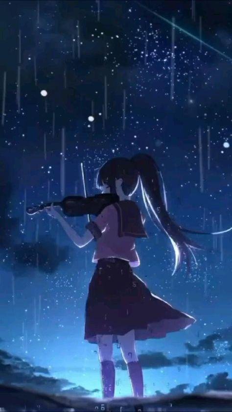 At night'
