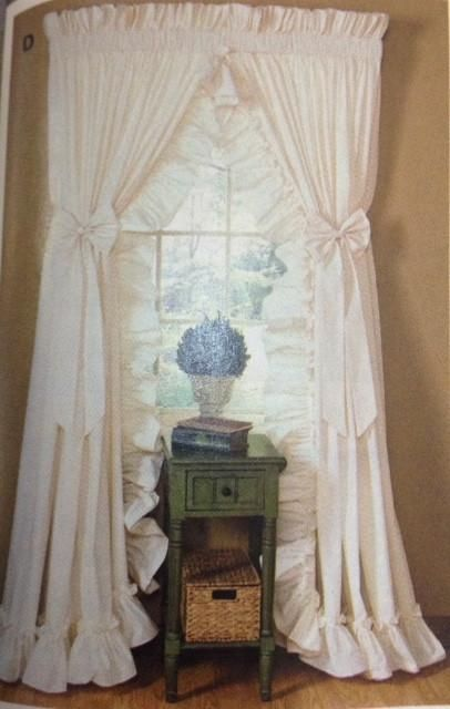Cottage Ruffled Curtains In 2020 Ruffle Curtains Curtains