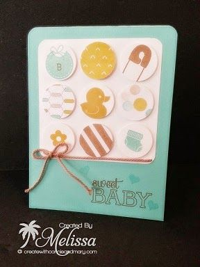 Stampin' Up! Something for Baby by Melissa Davies @ rubberfunatics