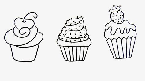 Artes Mariana Santos Desenhos De Cupcake Cupcake Desenho Desenhos