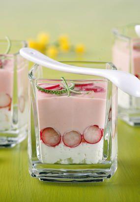 Crème de radis, chèvre et citron vert - #chèvre #citron #Crème #de #et #radis, #vert