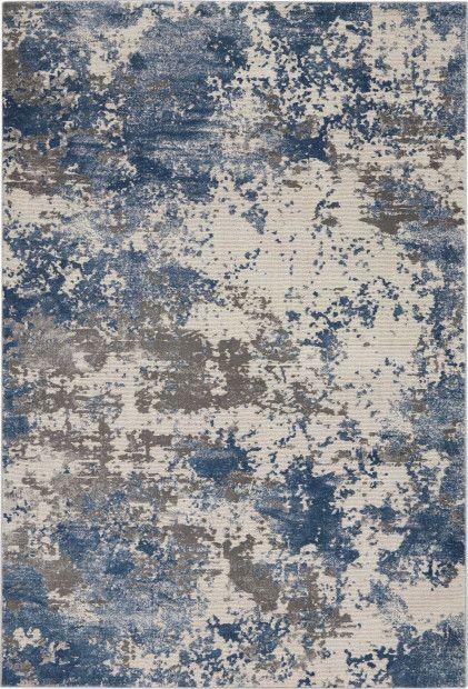 Rustic Textures Rus08 Grey Blue Blue Grey Rug Rugs Modern Rugs Blue