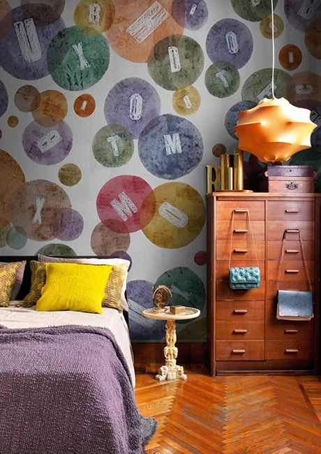 30 Wallpaper Writings On The Wall Ideas Wall Coverings Wall Deco Design
