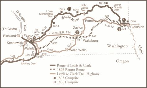 Lewis And Clark S Historic Route From Clarkston Pasco Washington