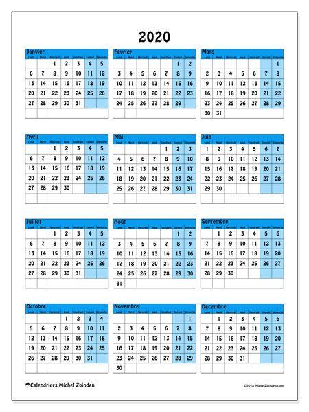 Calendrier 2020 Avec Jour Ferie.Calendrier 2020 40ld Calendrier A Imprimer Gratuit