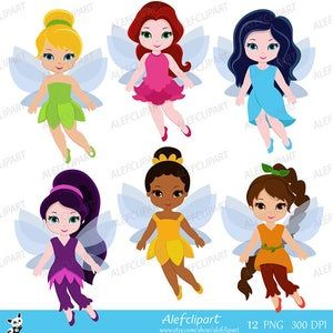 Cute Fairies Fairy Clipart Commercial Use Digital Clip Art Etsy In 2021 Digital Clip Art Clip Art Fairy Clipart