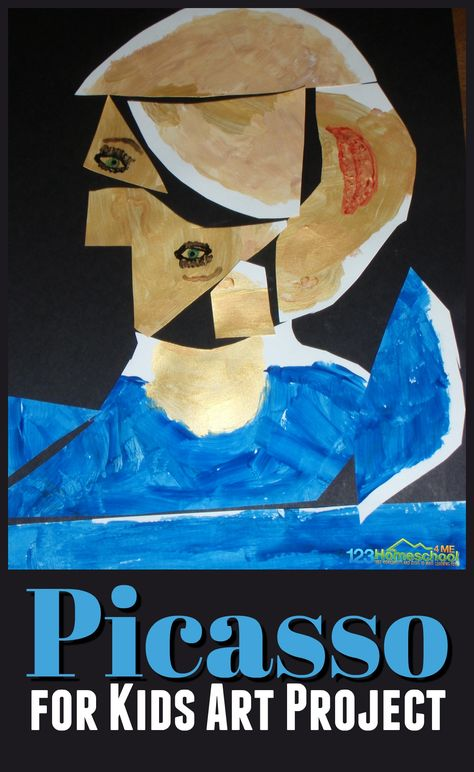 Super cute and clever Picasso for kids activities and art project. Plus lots of other clever art projects and free printables for learning about famous artists for kids Picasso for Kids Kunst Picasso, Art Picasso, Pablo Picasso, Picasso Kids, Art Lessons For Kids, Art Activities For Kids, Art For Kids, Art Ideas For Teens, Art Project For Kids
