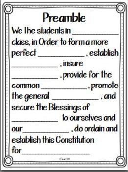 FREE Class Constitution activities