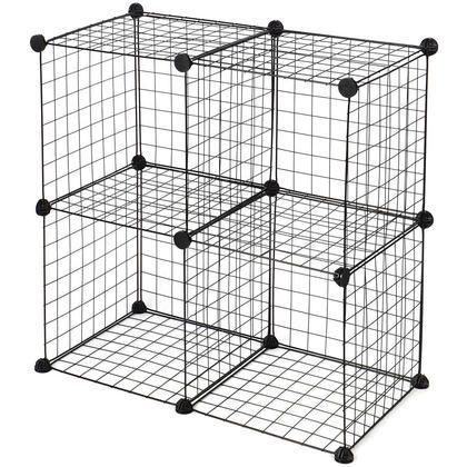 Multi Use Diy 4 Cube Wire Grid Shelves Organizer Sortwise Wire Storage Cube Storage Cube