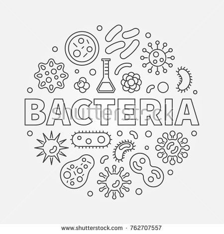 Bacteria Round Concept Symbol Made With Different Bacterias And