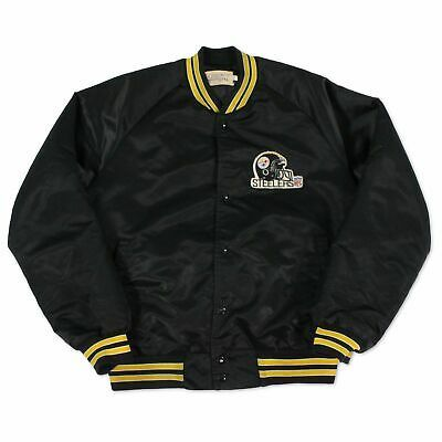 Ad Ebay Link Vintage Pittsburgh Steelers Chalk Line Jacket 90s Nfl Size Large J127 In 2020 Line Jackets Jackets Black Polo Shirt