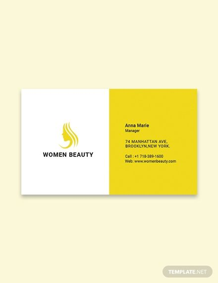 Free Beauty Parlor Business Card Template Word Doc Psd Apple Mac Pages Google Docs Illustrator Publisher Business Card Template Word Minimalist Business Cards Business Card Template