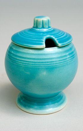 Vintage Fiestaware Original Turquoise Fiesta Pottery Mustard For Sale Fiesta Kitchen Pottery Fiesta