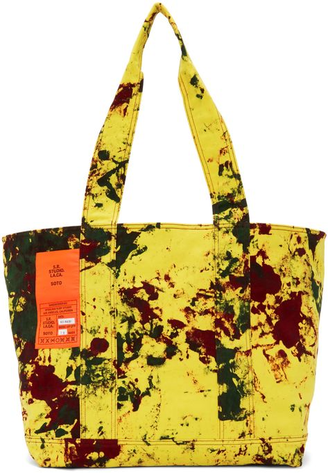 S R Studio La Ca Yellow Soto Hand Dyed Laundry Tote In 2020 Luxury Bags Reusable Tote Bags Bags