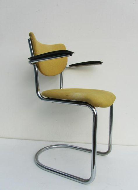 Vintage Bureaustoel De Wit.Vintage Gispen De Wit Stoel 3011 Bureaustoel Witte Stoelen