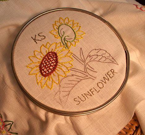 Kansas cross stitch sampler
