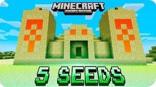Minecraft Pe Seeds Top 5 Unique Seeds Villages Desert Temple