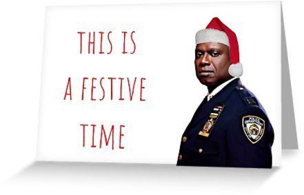 Brooklyn Nine Nine Christmas 2020 Brooklyn Nine Nine Captain Holt Christmas card/sticker, meme
