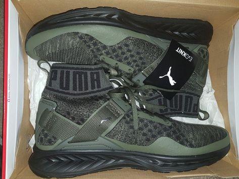 Sneaker On Foot: Puma Ignite 3 EvoKnit Olive #Puma #EvoKnit