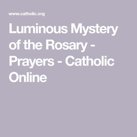 photo relating to 54 Day Rosary Novena Printable identified as Checklist of Pinterest luminous mysteries of the rosary jesus