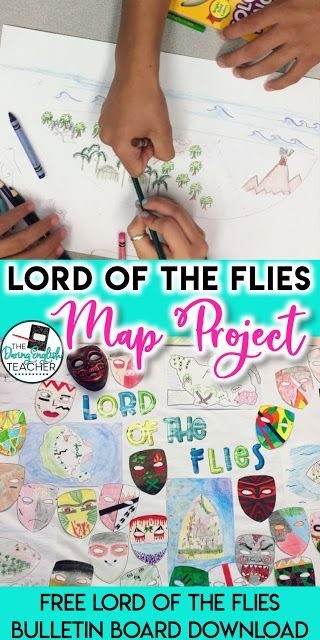 Lord Of The Flies Map Project High School Literature Map Projects Back To School Activities