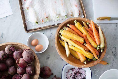 VERDURAS A LA SAL (salt roasted autumn vegetables)
