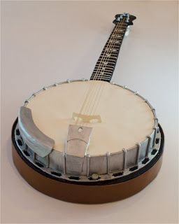 This is a scale model banjo cake I made recently as a groom's cake.