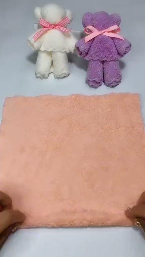 Super Cute Bear Doll Made of Towel