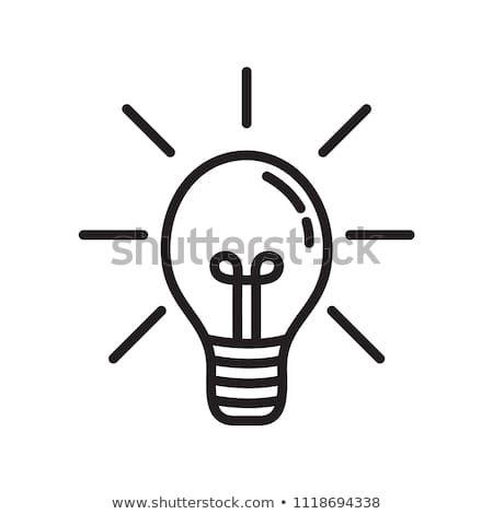 Light Bulb Lamp Outline Icon Vector In 2020 Light Bulb Design Light Bulb Lamp Bulb
