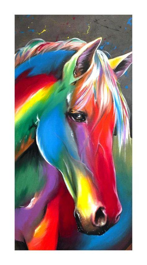 "Splart Horse 8x16 gloss print. ""Splorse"""