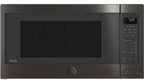 Ge Profile 2 2 Cu Ft Counter Top Microwave Black Stainless Steel Pes7227blts Black Stainless Steel Microwave Ada Compliant