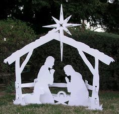 Diy How To Make An Outdoor Nativity Scene And It Only Costs