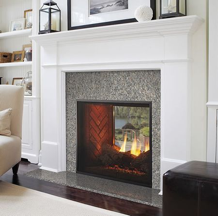 Cool Install This Fireplace On An Exterior Wall And Enjoy Both Download Free Architecture Designs Parabritishbridgeorg