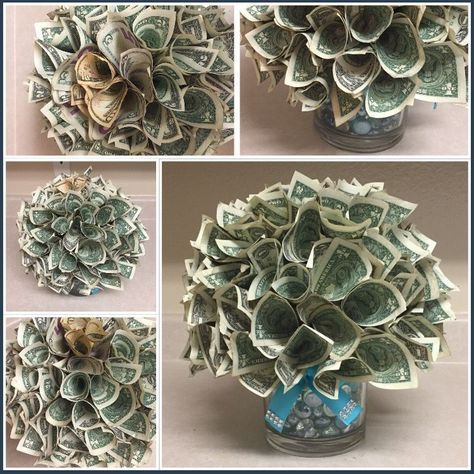 Money lei, Creative Ways to Gift Money – Party Ideas Money Rose, Money Lei, Gift Money, Money Gifting, Cash Gifts, Origami Money Flowers, Money Origami, Dollar Origami, Money Creation