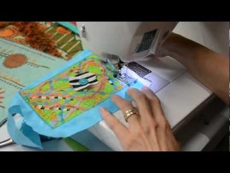 Karen Linduska - Surface Design Quilted Postcard *** great tutorial ***