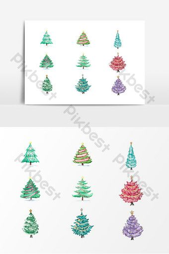 Christmas Tree Vector Icon Png Images Ai Free Download Pikbest Trifold Brochure Design Vector Icons Card Illustration