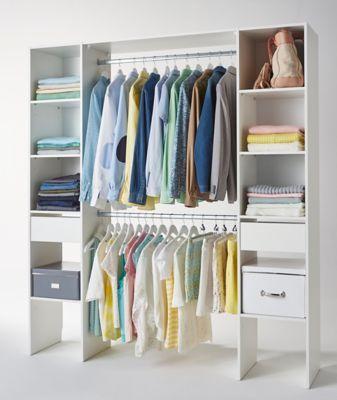 Kit Dressing Coloris Blanc H 200 X L 180 X P 40 Cm Dressing Castorama Castorama Dressing Chambre