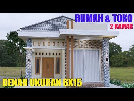 Desain Rumah Minimalis Modern Ukuran 6x15meter 2 Kamar Tidur 1 Lantai Full Denah Youtube Di 2021 Rumah Desain Rumah Desain Rumah Minimalis