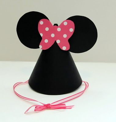 Minnie Mouse Party Hats Tutorial