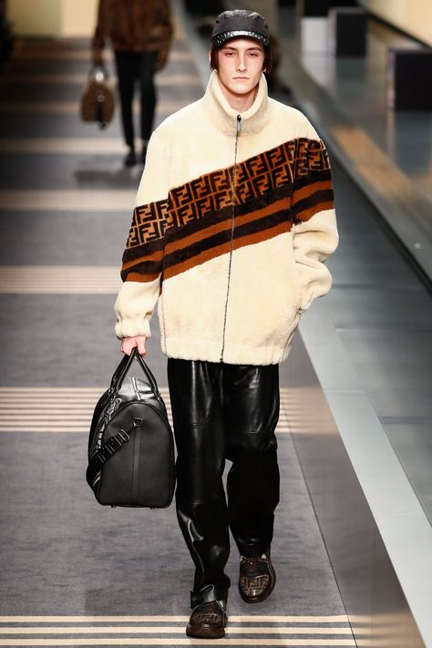 The complete Fendi Fall 2018 Menswear fashion show now on Vogue Runway. #HighFashionTrends