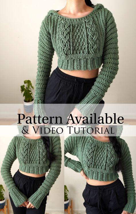 Crochet Crafts, Crochet Projects, Easy Crochet, Knit Crochet, Crochet Cardigan, Crochet Shirt, Crochet Sweaters, Chunky Crochet, Crochet Beanie