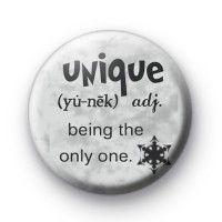 Unique Definition Badge  Button Badge £0.85