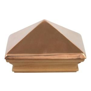 Protectyte Miterless 6 In X 6 In Untreated Wood Flat Slip Over Fence Post Cap With Copper Pyramid Ftbc0534m The Home Depot In 2020 Fence Post Caps Copper Pyramid Post Cap