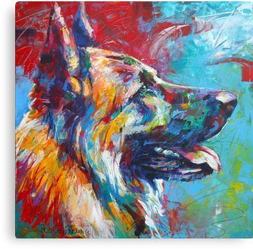 German Shepherd Canvas Print In 2020 German Shepherd Painting German Shepherd Puppies German Shepherd Dogs