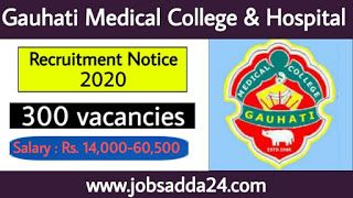 Gauhati Medical College Hospital Recruitment 2020 Apply Online